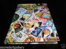 "Premier 10"" World Postal Stamp Album Collection stockBook 8pages for 200+ stamps"