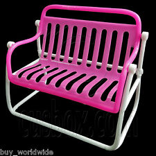 Garden Outdoor 2-Seater Bench Chair 1:6 Scale for Barbie Blythe Dolls Furniture
