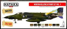 Hataka Hobby Paints MODERN HELLENIC GREEK AIR FORCE COLORS Acrylic Paint Set #1