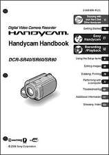 Sony DCR-SR40 DCR-SR60 DCR-SR80 Camcorder User Instruction Guide  Manual