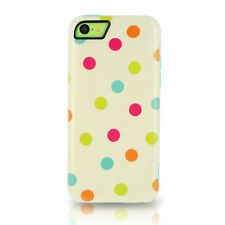 iFrogz Chemistry Hard Shell Cover Case for Apple iPhone 5C Watercolor Polka Dots