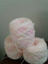 POMPADOUR / NEW  BABY YARN/ VARIEGATED  PINKS/ YELLOWS/ Red Heart Compatible