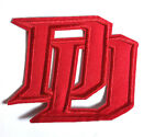 """DAREDEVIL Die Cut Logo 3.5"""" Wide Embroidered Patch- FREE S&H (MCPA-23)"""