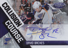 10-11 Certified David Backes /100 Auto Collision Course Blues 2010