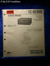Sony Service Manual TC H5900 Cassette Deck (#1458)