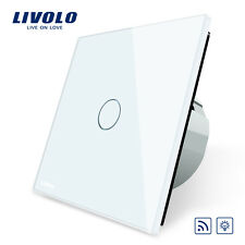 Livolo New EU Type 110-250V 1 Gang 1 Way White Wall Light Remote Dimmer Switch