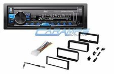 JVC CAR STEREO RADIO WITH BLUETOOTH & SIRIUS XM & DASH INSTALLATION KIT & WIRING