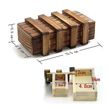 Chinese Vintage Classic Brain Magic Ring Trick Wooden Puzzle Box Secret Drawer