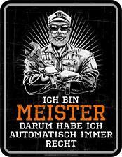 Letrero de metal 17 x 22 cm,Soy Meister,Cartel publicitario SIN MARCO Art. 3792