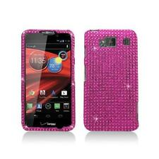 Hot Pink Design Diamond Snap-On Hard Case Cover for Motorola Droid Razr Maxx Hd