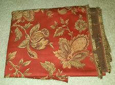 """UPHOLSTERY FABRIC 67"""" x 58"""" over yard Chair Brick Red with Golden yellow, Green"""