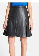 Classiques Entier Women's Black Leather Pleated Skirt $428 Sz 2 crg