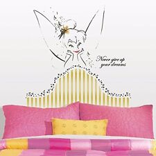 Roommates Disney Fairies Tinkerbell Headboard Peel And Stick Giant Wall Decal