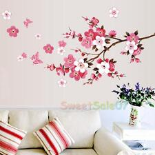 Cherry Blossom Wall Poster Waterproof Background Sticker for Bedroom Cafe New