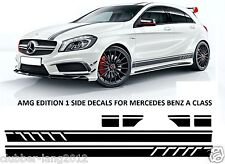 Amg black edition 1 side stripe decals vinyl stickers mercedes benz classe a W176