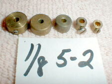 "5-2 Brass Weights Large-Small with 1/8"" ID hole for all Pick-up Brush Guides NOS"