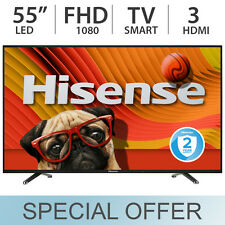 "Hisense 55"" inch 1080p 60Hz LED FULL HD Smart TV w/ 3 HDMI & Wi-Fi 55H5C - NEW!"