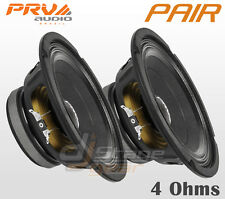 "Pair PRV Audio 8MB450-4 8"" Mid Bass 2 x Woofers - Authorized Dealer - PRV 8 in"