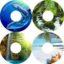 Natural Sounds Whales & Dolphins Stream Waterfall Seashore Waterfall on 4 CDs