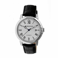NEW Heritor HR2301 Men's Laudrup Collection Automatic Crocodile Embossed Watch