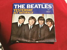 BEATLES~YESTERDAY~ACT NATURAALLY~SLEEVE ONLY~VG++~CAPITOL 5498~STRIGHT ~ POP 45