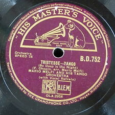78rpm MARIO MELFI TANGO ORCH tristesse / why does my heart go boom