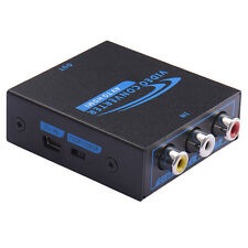Composite AV2HDMI Adapter Converter AV CVBS 3RCA to HDMI 1080P Iron Box A Mini