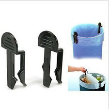 Quality 2Pcs Garbage Can Waste Bin Trash Can Bag Clip Holder UN