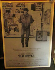 TAXI DRIVER SPECTACULAR NEW VINTAGE RARE OOPS POSTER  ROBERT DINERO
