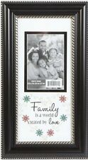 Family is a World Created by Love Sentiment - 3.5 x 5 Wall or Desk Picture Frame