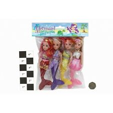 Confezione da 4 ASSORTITI COLORATI mermaid dolls con GLITTERATE CODE