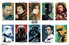 STAR WARS - ROGUE ONE - CHARACTER GRID POSTER - 22x34 MOVIE 14642