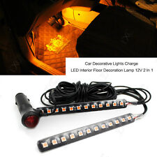 Car Interior Footwell Floor Decorative 12 LED Cigarette Lighter Plug Light Strip