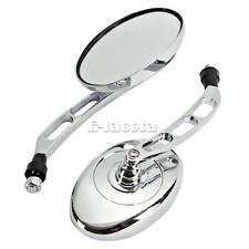 10MM Motorcycle Oval Side Mirrors Fit For Harley Electra Glide FLH FLHX FLHT