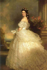 """Huge Oil painting Empress Elizabeth of Austria also as """"Sissy Princess"""" canvas"""