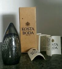 Vintage KOSTA BODA Sweden GUNNEL SAHLIN Glass ART Signed Numbered