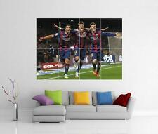 Messi Neymar y Suarez Barcelona Barca Fc Poster gigante pared arte Foto impresión