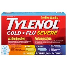 TYLENOL Cold + Flu Severe Day - Night Caplets 24 ea (Pack of 2)