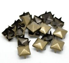 Pyramid Studs Rivets 50 or 100 - Leather Crafts 6, 8, 9, 12mm Studs - UK Seller