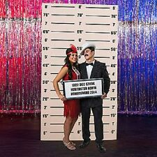 MUGSHOT BACKGROUND * 1920's twenties * party decorations * gangster * standees