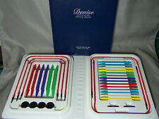 Primary Colored Denise Interchangeable Knitting Needles Kit with Bonus Gift