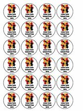 "30 x Personalised Your School Prom Party 1.5"" PRE-CUT Cupcake / Cake Toppers"