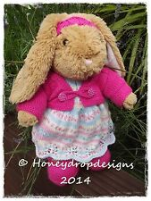 "HONEYDROPDESIGNS 16-17"" BUILD A BEAR/BEAR FACTORY ANIMAL PAPER KNITTING PATTERN"