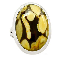 Peanut Wood 925 Sterling Silver Ring Jewelry s.9.5 SR210357