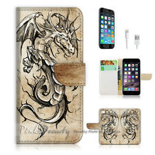 "iPhone 6 (4.7"") Print Flip Wallet Case Cover! Dragon P1498"