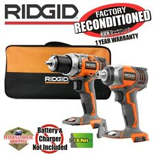 Ridgid R86034B R86008 18V X4 Impact Driver & Drill w/ Bag (Tools Only) Reconditi