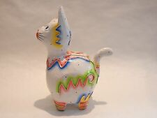 Wooden Batik Cat Piggy Bank Money Saving Coin Hand Craft&Painted Wood #N0310