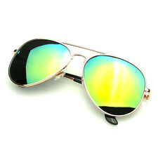 Original Gold Polarized Full Mirror Metal Aviator Sunglasses