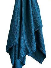 Leinen Waffelpique Handtuch Badetuch Saunatuch Stonewashed 100x160 cm Bluemarine