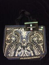 Tesco Julien Macdonald Bag of Ethics Blue Black Cotton New Wings Design Paint